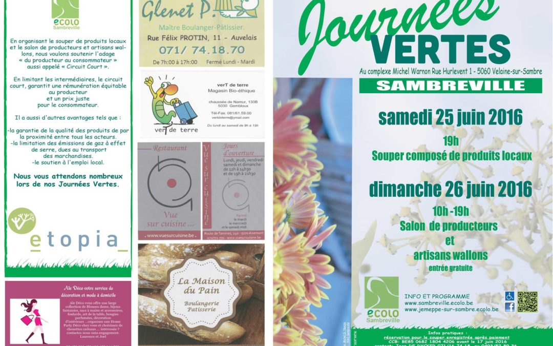 Flyer – Journées vertes 2016
